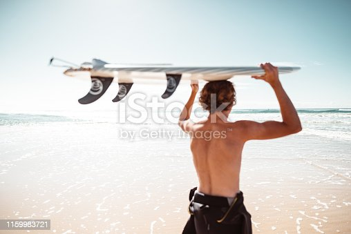 surfer have fun on the beach in australia