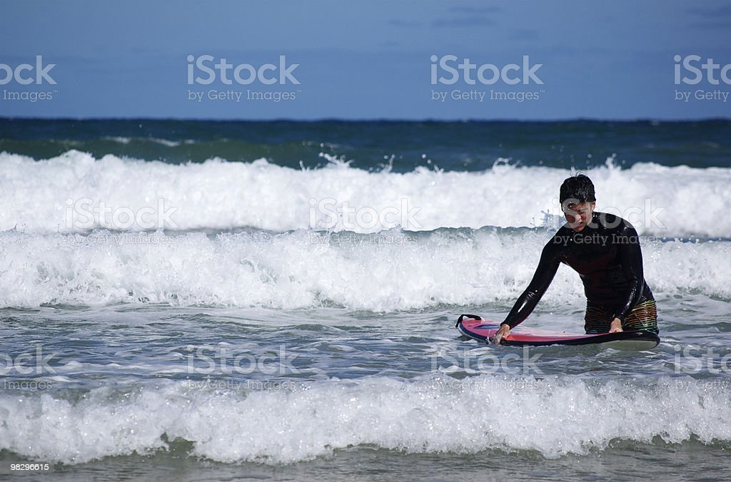 Surfer Holding His Board royalty-free stock photo