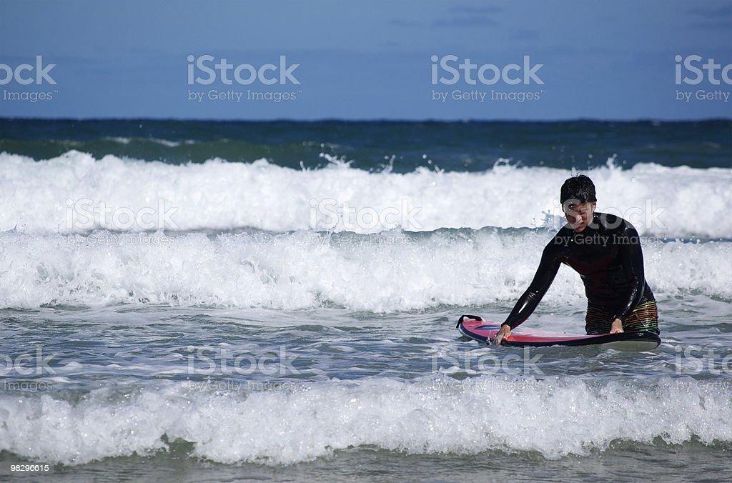 Surfista con la scheda foto stock royalty-free