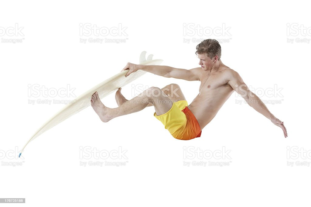 Surfer in action royalty-free stock photo