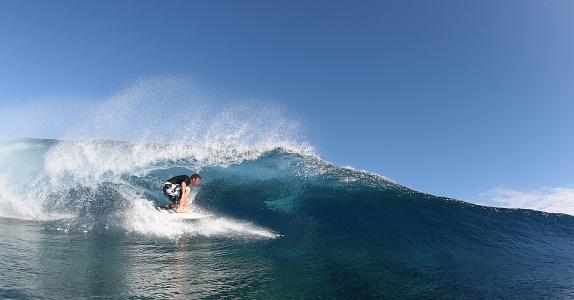 Surfer Welle