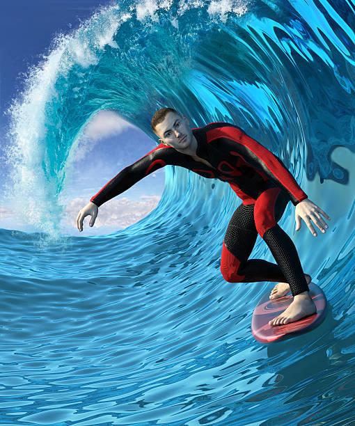 surfer - digital surfer stock-fotos und bilder