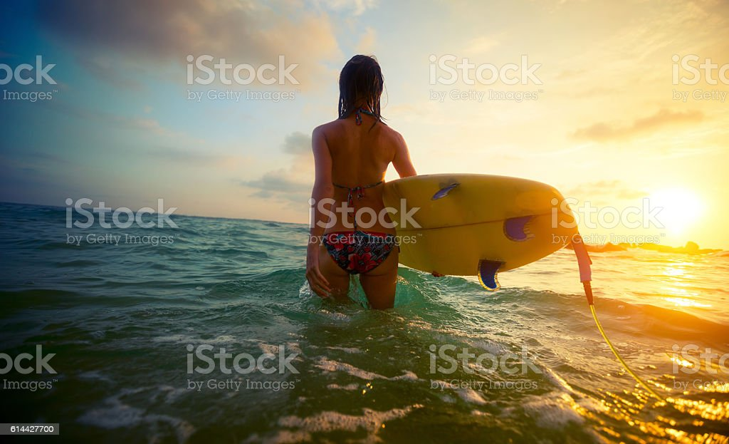 Surfer stock photo