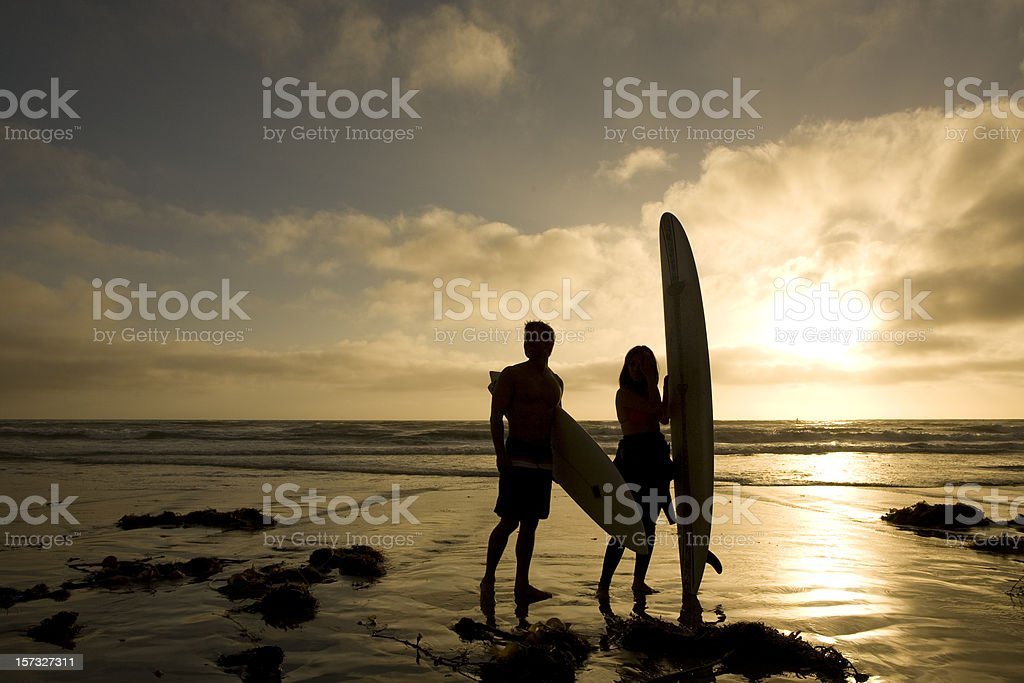 Surfer Silhouette 1 royalty-free stock photo