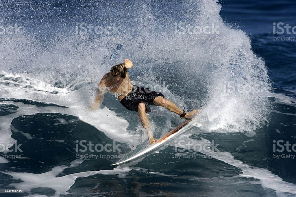 wave surfer slashing – Foto