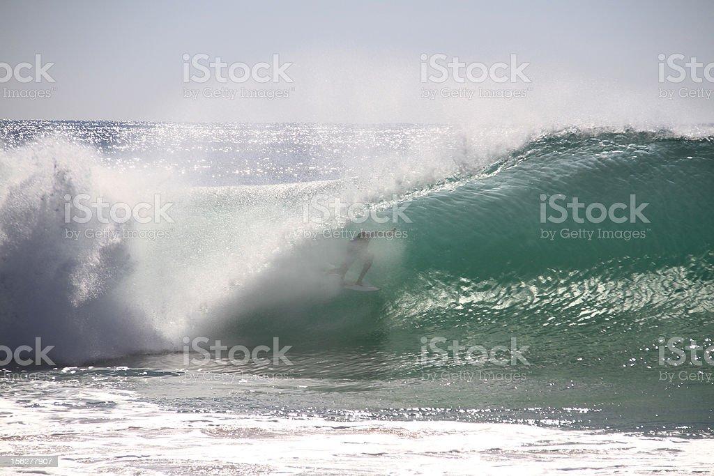 Surfer tube royalty-free stock photo