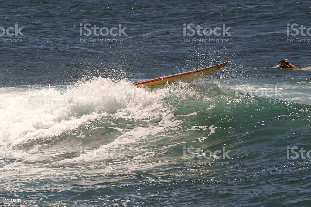 Surfer wipe out royalty-free stock photo