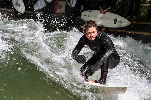 Surfergirl at the Eisbach