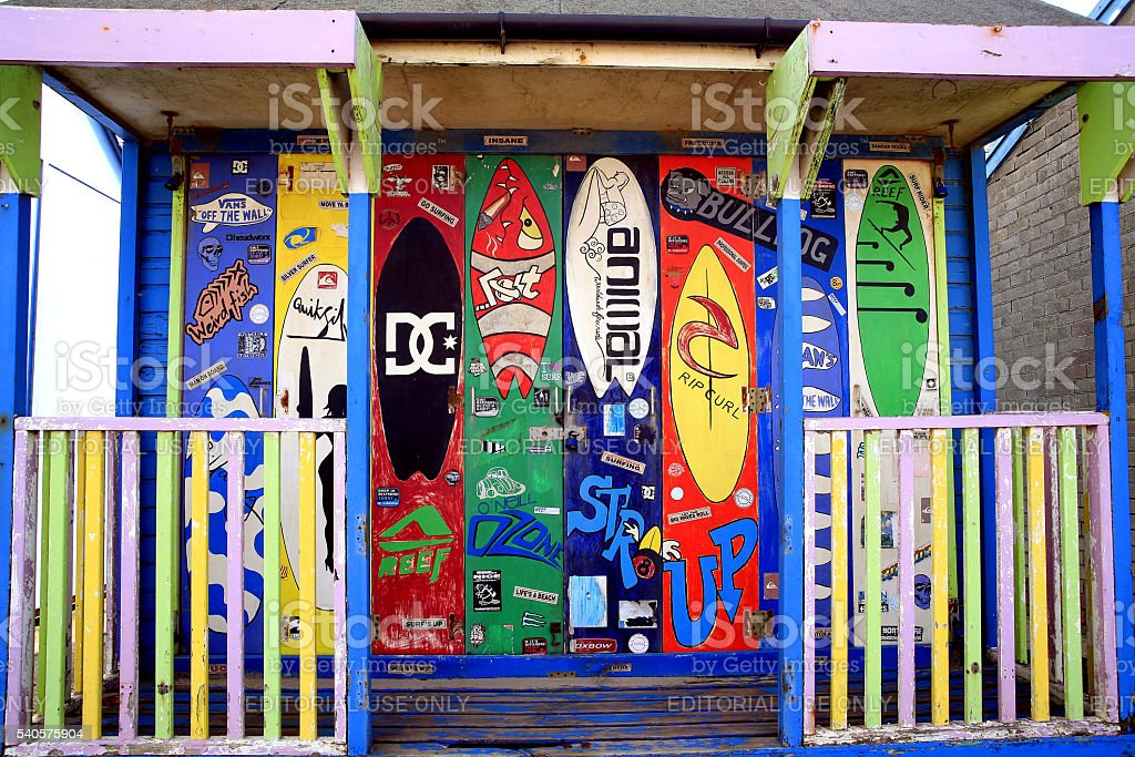 Surfer's Beach Hut. stock photo