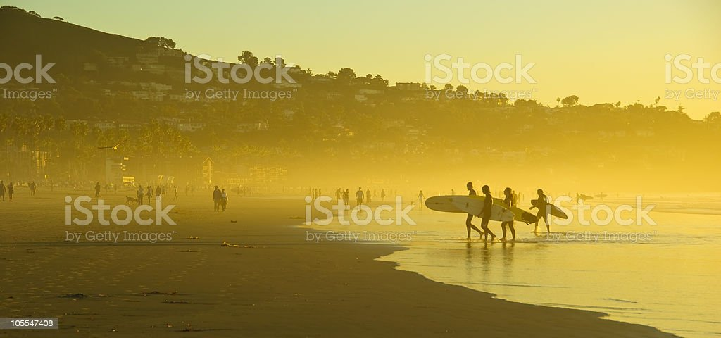 Surfers, La Jolla Shore. San Diego, California stock photo