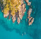 Maitai Bay on the Karikari Peninsula on\na bright and sunny day in Northland, New Zealand.
