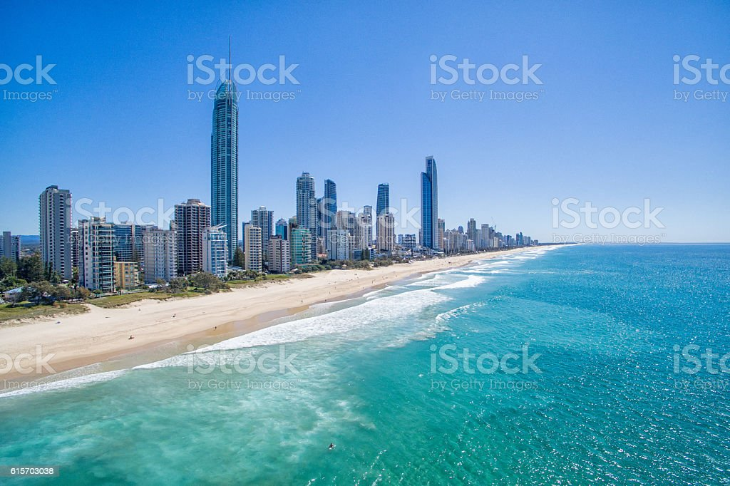 Surfers Paradise aerial stock photo