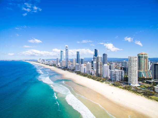 Surfers Paradise Aerial - foto stock