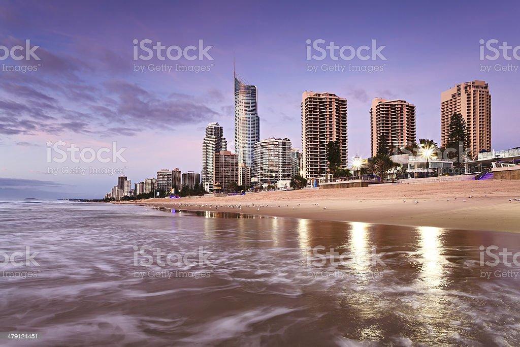 QE Surfers Paradise Beach CBD North Rise stock photo