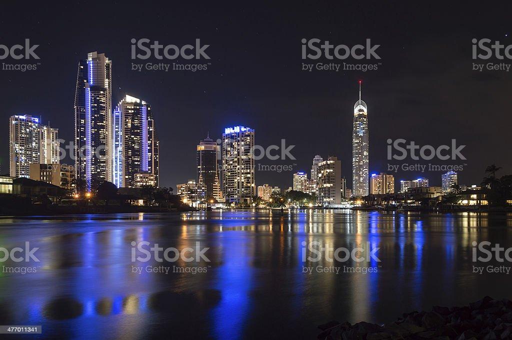 Surfers Paradise city skyline stock photo