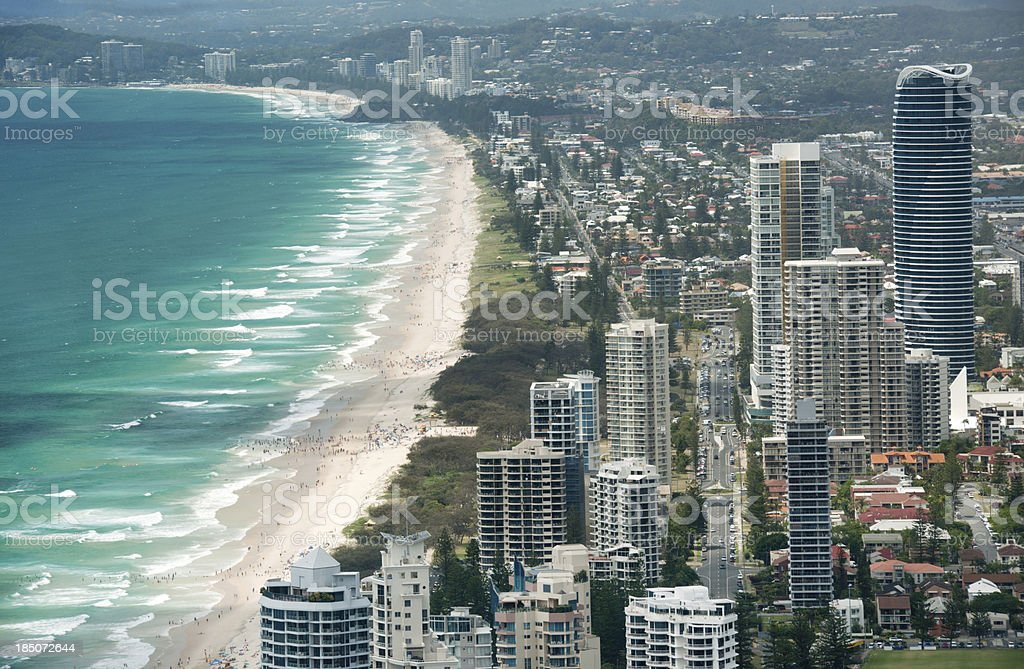 Surfers Paradise, Gold Coast, Australia (XXXL) stock photo
