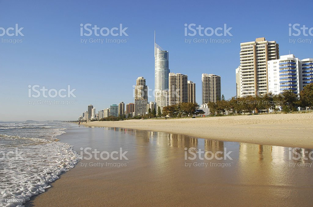 Surfers Paradise, Gold Coast Coastline, Queensland, Australia stock photo