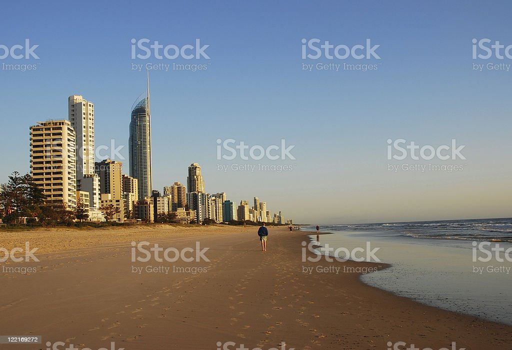 Surfers Paradise, Gold Coast Coastline, Queensland, Australia royalty-free stock photo