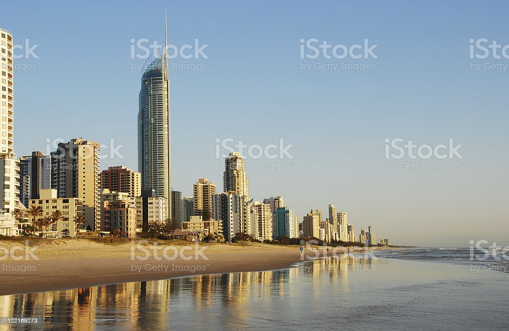 Surfers Paradise, Gold Coast, Queensland, Australia,Coastline stock photo