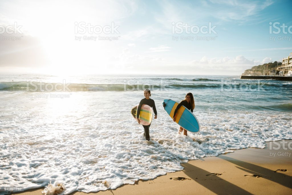 Surfer's paradise stock photo