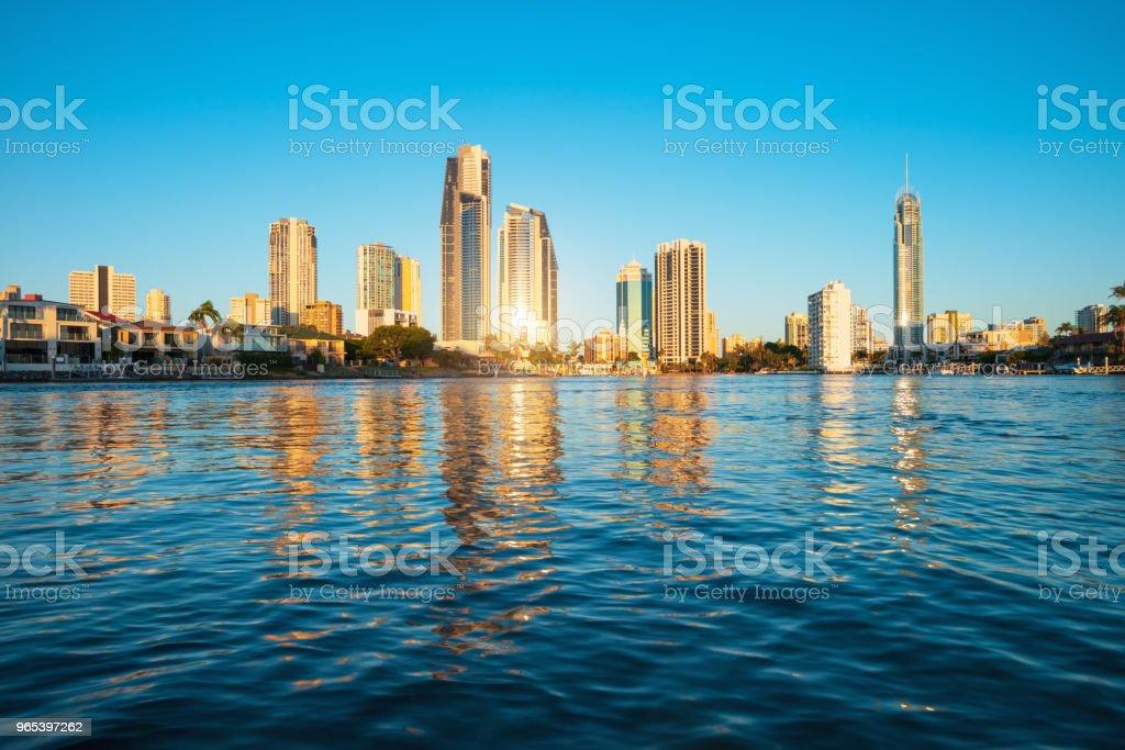 Surfers Paradise skyline, Australia zbiór zdjęć royalty-free