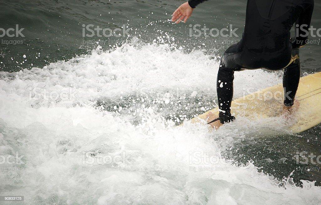 Surfing 2 stock photo