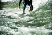 Surfing a the perfect wave