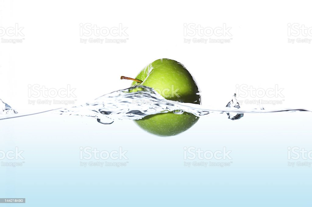 Surfing apple royalty-free stock photo