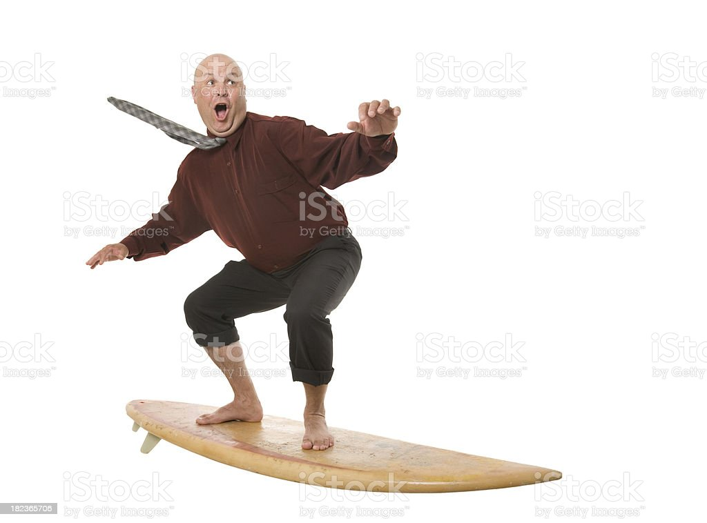 Surfing Business Man royalty-free stock photo