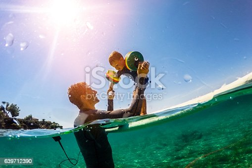 istock Surfing class in the sea 639712390