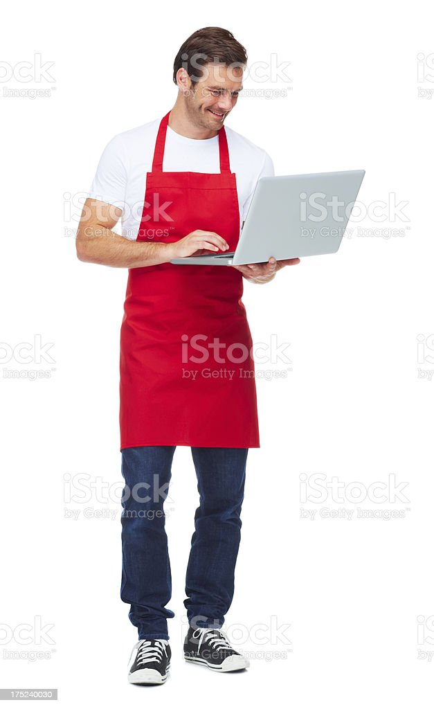 Surfing for the best recipe stock photo
