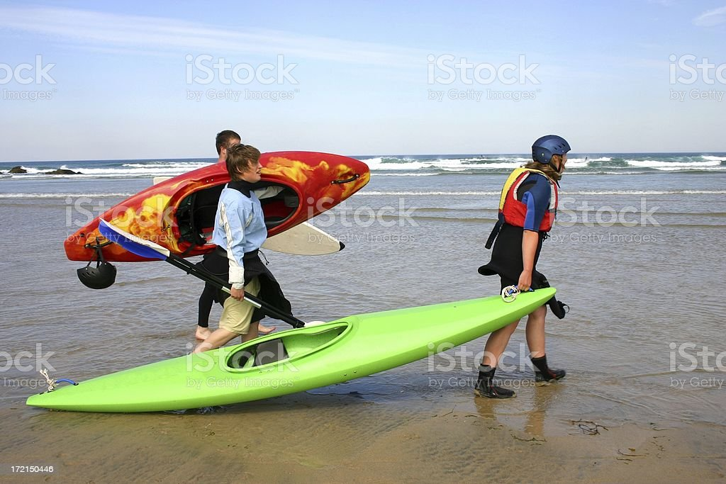 surfing friends hunting for waves royalty-free stock photo