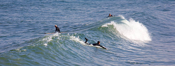 Surfing Imperial Beach stock photo