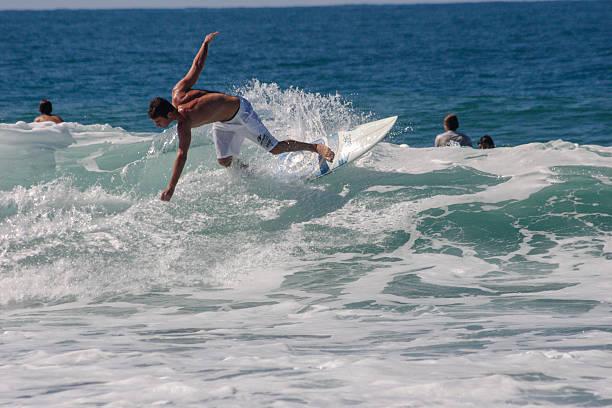 Surfing in Florianopolis - Santa Catarina, Brazil stock photo