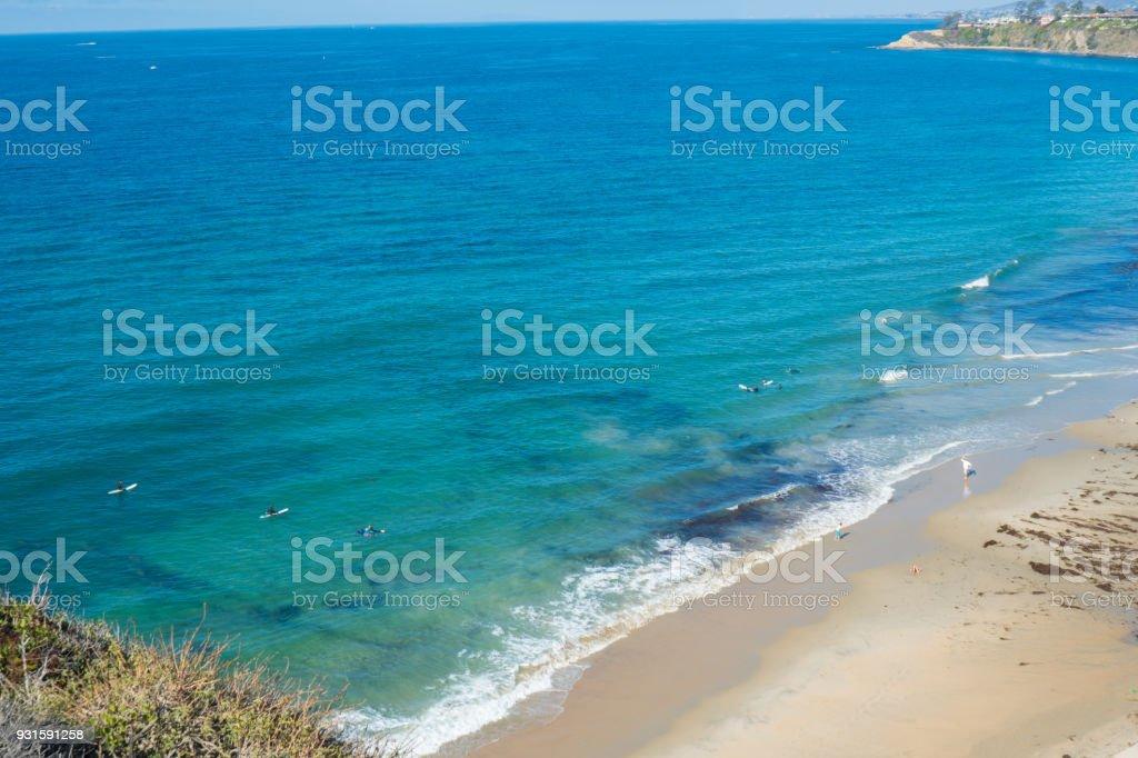 Surfing in Laguna Beach stock photo