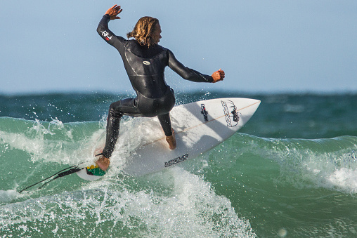 Surfing in Newquay.