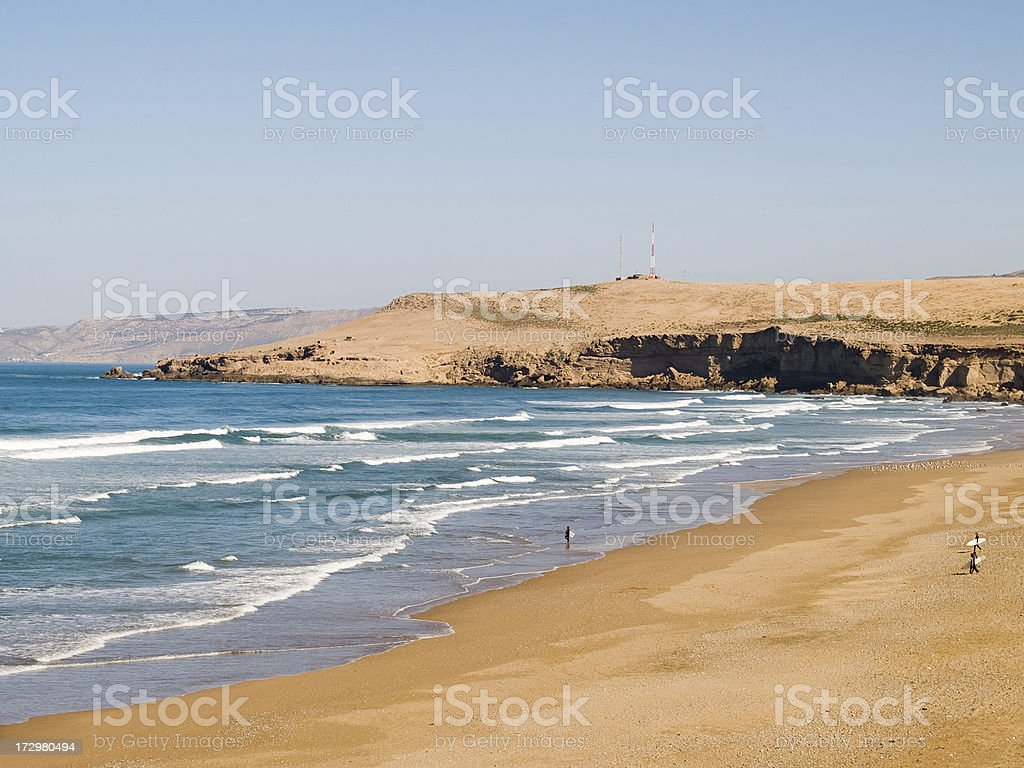 Surfing in North Africa stock photo