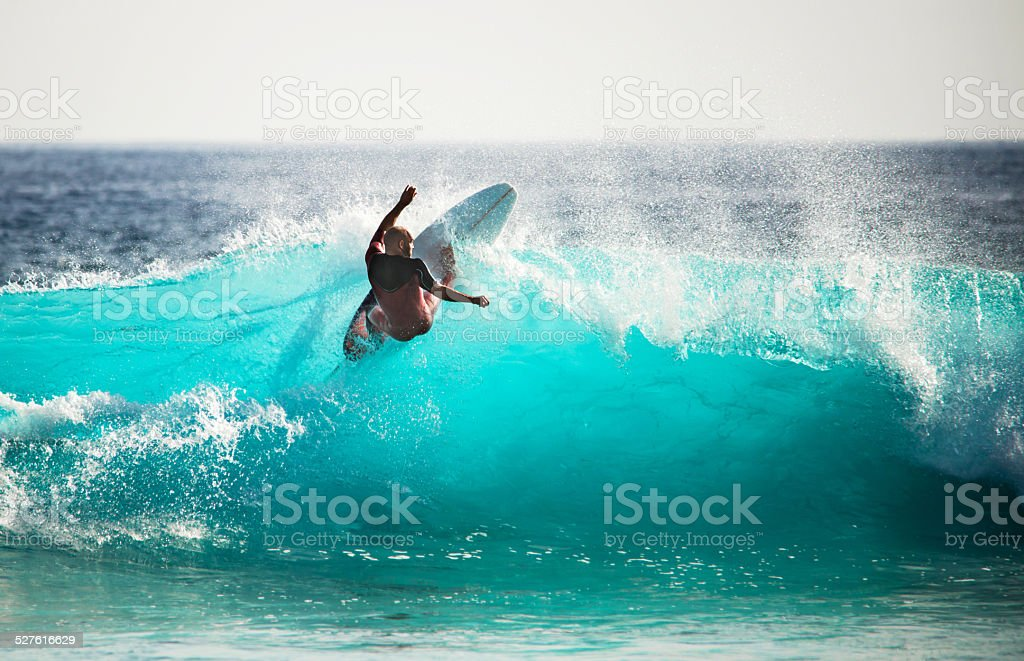 Surfing is fun! stock photo