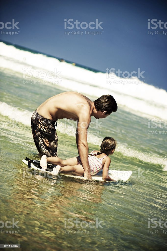 Surfing lesson royalty-free stock photo