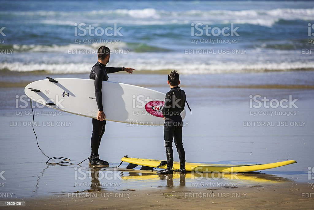 Surfing Lesson stock photo