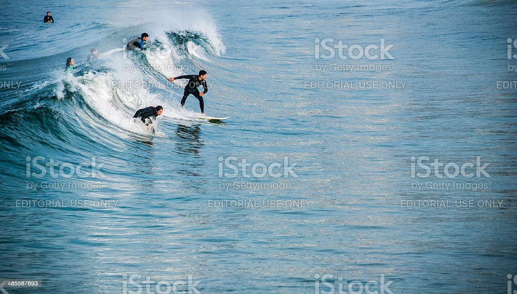 Surfing Morning stock photo