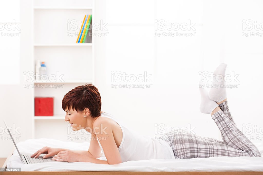 Surfing on net royalty-free stock photo