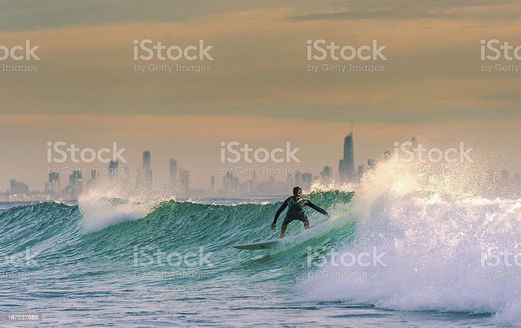 Surfen an der Gold Coast - Lizenzfrei Australien Stock-Foto