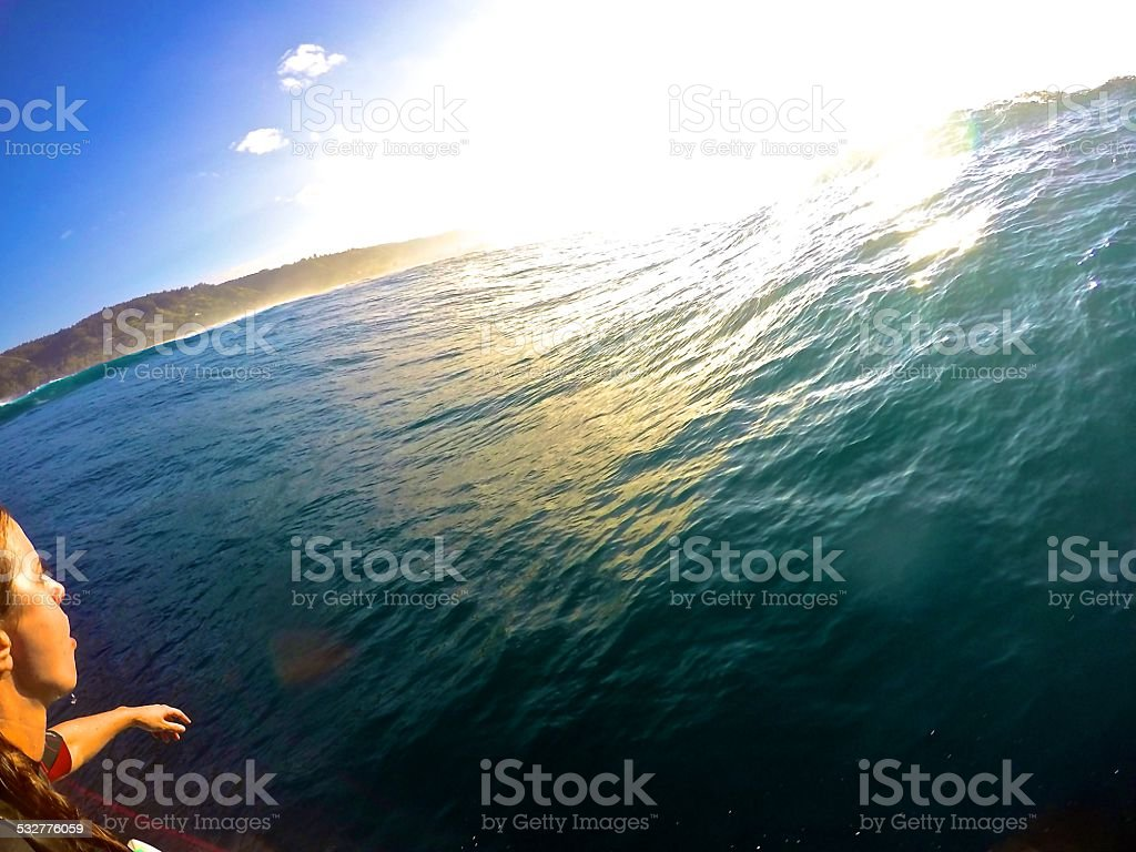 Surfing Paradise Hawaii stock photo