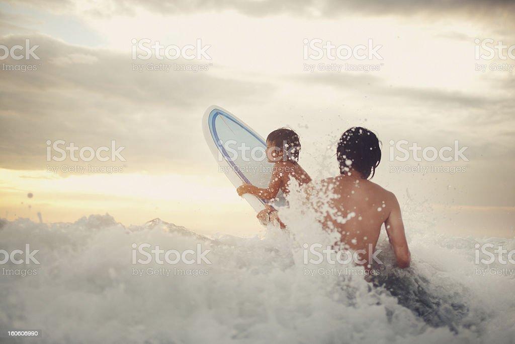 Surfing Study stock photo