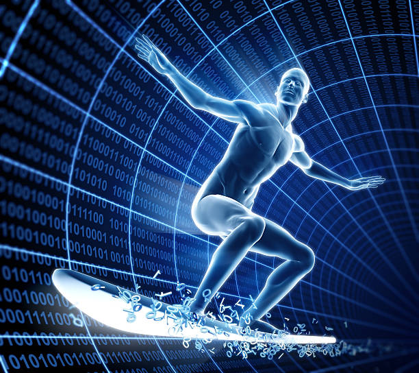 surfen im internet konzept - digital surfer stock-fotos und bilder