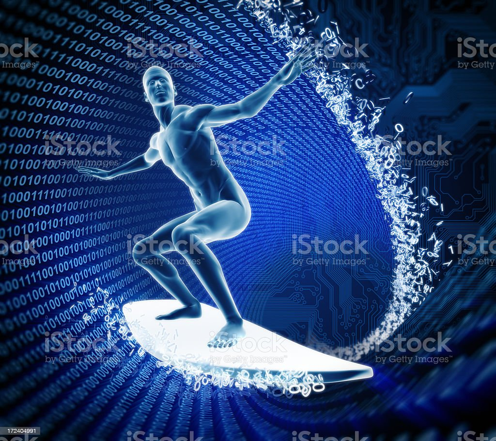 Surfing the internet concept stock photo