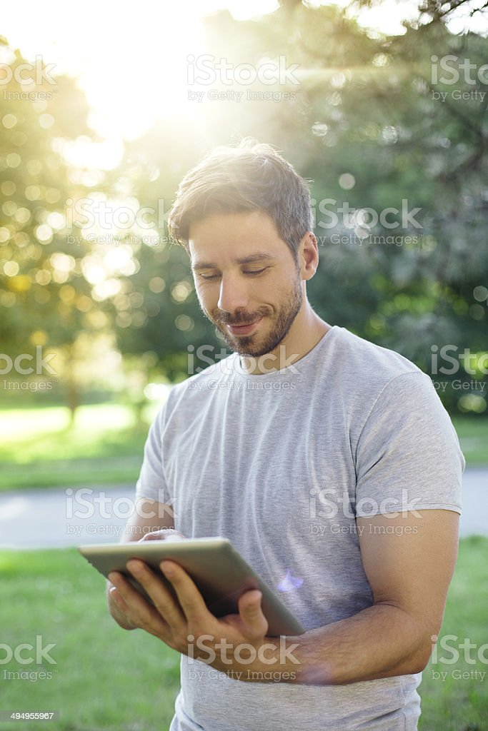 Surfing the net royalty-free stock photo