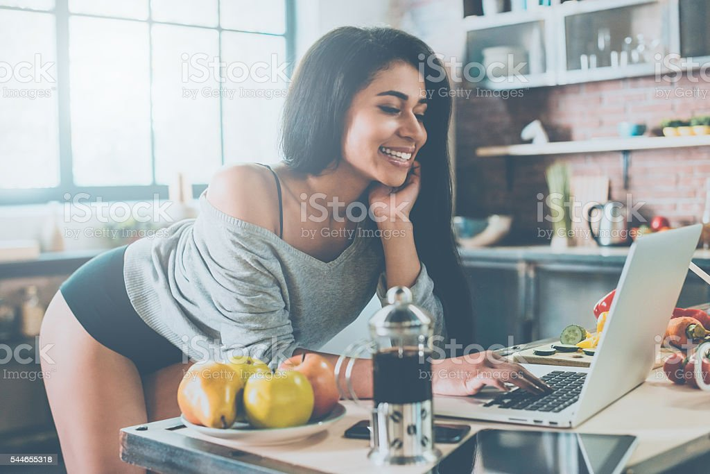 Surfing the net. stock photo