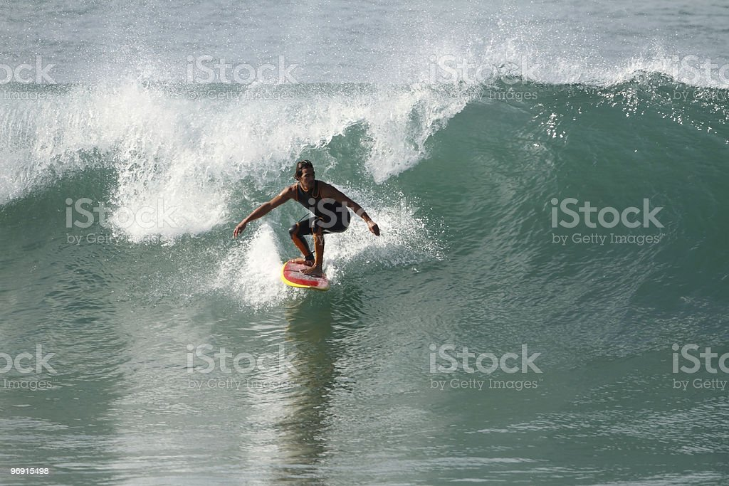 surfing wave royalty-free stock photo